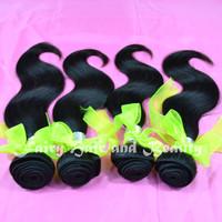 Rosa Hair Products Indian Virgin Hair Extenson Body Wave 3pcs lot Grade 5A Length 12-28 Inch Natural Black Free Shipping