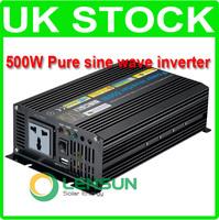 500W Pure Sine Wave Power Inverter 12V DC,220V AC, Factory Wholesale! UK STOCK! FAST SHIP!
