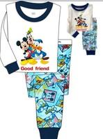 Newest 2013 baby girls cartoon clothing sets kids pajama long sleeve shirt+pants suits baby cotton cute sleepwear suits