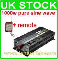 1000W Pure Sine Wave Power Inverter 12V DC,220V AC + remote, Factory Wholesale! UK STOCK! FAST SHIP!