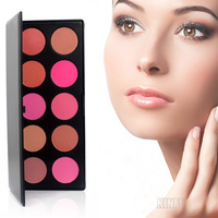 Hot 2013 Cosmetics 10 Color Professional Blush Powder Palette Makeup