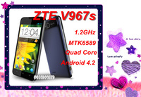 DHL ZTE V967s Smartphone 5'' IPS Capacitive Touch Screen MTK6589 1.2GHz Quad Core Android 3G Mobile Phone GPS 1G Ram 4 ROM