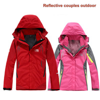 New Winter Hooded Leisure Sport jacket Reflective ski snow outdoor Women snowboarding jacket waterproof men climbing wear lovers