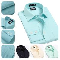 Hot Sale !Top Grade Luxury Men Long Sleeve Shirt/Business Formal Sleeve Dress Shirts/7 Different Colors High Quality Shirt Brand
