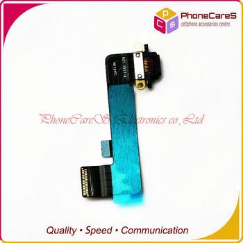 1pcs/lot ,Black Original Charging Port Dock Flex Cable Ribbon Connector part For iPad mini,Free shipping By HongKong Post