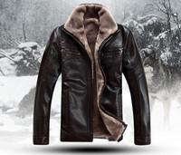 Cool Men Genuine Sheepskin Leather Clothing Male Fur Outerwear Winter Jackets M L XL XXL XXXL