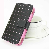 1pcs for all iphone 5 5g case fashion wallet PU leather cover free shipping