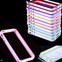1pcs TPU Bumper PVC Silicone Hard Case Skin with Side Button for iPhone4 4S 4G b2004