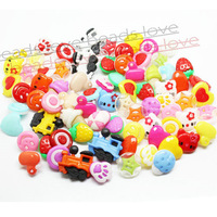 Free Shipping 150pcs - mixed color MIXED PATTERN plastic cartoons cloth buttons jewelry accessory 14mm-25mm(w02201)
