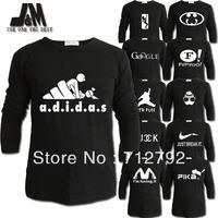 luminous long sleeve t shirt big size 6xl men fashion brand designer creative spoof logo design autumn clothes casual men shirts