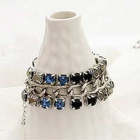 The orders of at least $10!!(mixed Order)L006 Fashion crystal metal chain bracelet with free shipping!!!!