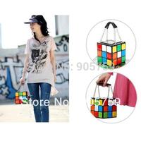 Fashion Women lovely Rubik's Cube Handbag Clutch bags  2014 GIFT Rubik cube bag,Rubik bag