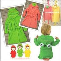 baby's cartoon animal style bathrobe Boys/girls towel cotton clothing Child Long sleeve bath baby cloak towel Winter/autumn