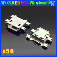 5P V8 Port Micro USB Jack for Blackberry/Lenovo/OPPO/ZTE V880 U880 N880S N760 Huawei C8650 Y220-5pin