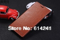 High quality Luxury Nobility original flip leather case for lenovo k900 with stand Card holder 6 colors