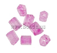 Free shipping!!!2 Cut Glass Seed Beads,High Quality Jewelry, Round, color-lined, translucent, fuchsia, 2x2mm, Hole:Approx 1mm