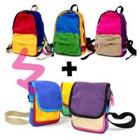 Natural nado 100% cotton canvas Korean children cotton canvas shoulder tote backpack - shoulder bag purse 3colors +FREE SHOPPING