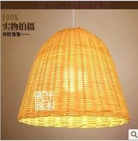 Bell Scandinavian minimalist modern restaurant chandelier lamp rattan bamboo garden of Chinese in Southeast Asia study lamps
