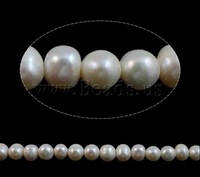 Free shipping!!!Round Cultured Freshwater Pearl Beads,Korea Jewelry, natural, white, A Grade, 9-10mm, Hole:Approx 2mm