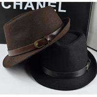 Fashion fedoras male women's fashion jazz hat summer black woolen cap outdoor casual hat
