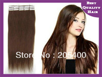Free shipping  100% remy  Brazilian hair Tape hair extension 20 inch, 2g/pcs