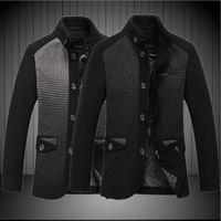 Wholesales Woolen Pea Coats Men Warm Jackets Casual Mens Breasted Wool Coat Slim Fit Business Blends Thicken Winter Jacket S258