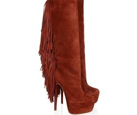 2013 top sail  Fine leather fringed boots for women women genuine leather shoes to create spring and autumn  free shipping