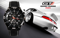 10 Pcs/Lot,Hot Sale New 2013 GT Racing Sports Watch, PC Movement Round Dial Clock Men Army Black Silicone Quartz Wrist Watch