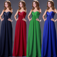 Fast Delivery! New Arrival Floor Length Strapless Elegant Party Long Evening Dress Gown Prom CL4101