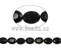 Free shipping!!!Millefiori Crystal Beads,Fashion Jewelry in Bulk, Oval, black, 9x12x6mm, Hole:Approx 2mm, 30PCs/Strand