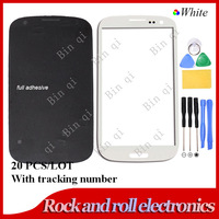 20pcs/lot White Front Screen Glass Lens For Samsung Galaxy S3 SIII i9300 + tools +full adhesive Free shipping