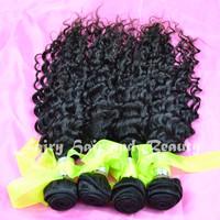 "Free Shipping Virgin Indian Hair Retail Natural Color 12""- 28"" Deep Wave Hair Extension Human Hair Weave Virgin Wavy On Sale"