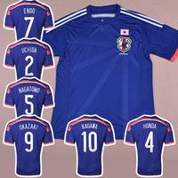 JAPAN HOME Blue 2014 WORLD CUP Soccer jersey football Jerseys kits Uniform ENDO HONDA KAGAWA KAKITANI NAGATOMO OKAZAKI UCHIDA