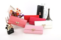 Lovely Korea Style Womens Bifold Clutch Leather Purse Long Wallet Bag 6 Colors Free Shipping