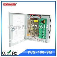 9CH 12V 8.33A 100W DC Camera Power Adapter, CCTV Power Supply Box, CE/Rohs/FCC/IEC & 2-year warranty