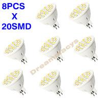 8 PCS/lot LED spotlight bulb 3W MR16 Warm White / Cold White 20 SMD 5050 LED Light Bulb Lamp 12V