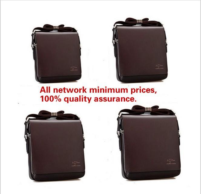 2014 Hot Sale Rushed Kangaroo Men's Briefcase Leather Cross Body Messenger Bag Popular Shoulder Handbag Classic Design 2 Version(China (Mainland))