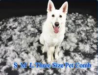 Medium professional  6.8 CM Shedding edge DOG CAT GROOMING Shedding  HAIR TOOL BRUSH COMB PET RAKES Freeshipping