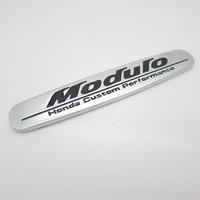 Free shipping, 10pcs/lot Honde custom perfarmance Modulo logo 3D car badge