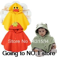 Free shipping Hot sales New baby panda cloak to small rabbit ZhongTong frogs ducklings strawberry shawl batwing coat 00069