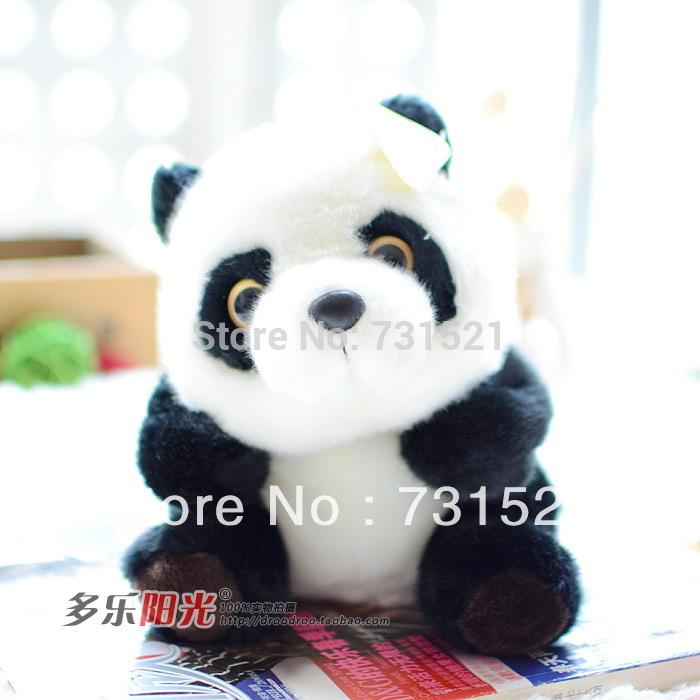 giant stuffed panda teddy bear plush toy doll birthday gift, 22 cm (sitting)(China (Mainland))