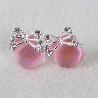 Min.order is $10 (mix order). NEW&2013 South Korea fashion butterfly zircon earrings!
