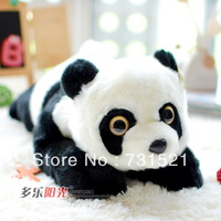 Free Shipping giant stuffed panda teddy bear plush toy doll birthday gift, 55cm (Length)