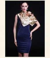 [Silk charmeuse scarf]90cm*90cm/Pure silk fabric/Square scarf for ladies/Fashion silk shawl/Brown