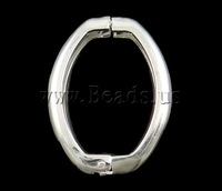 Free shipping!!!Brass Twister Clasp,2013 fashion women, Oval, silver color plated, nickel, lead & cadmium free, 27x20x4mm