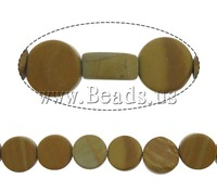 Free shipping!!!Grain Stone Beads,Christmas Gift, Coin, 8x8x4mm, Hole:Approx 1mm, 48PCs/Strand, Sold Per 15.5 Inch Strand
