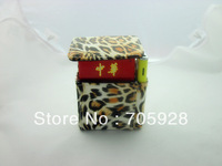 tiger  print design leather cigarette pack pouch cigarette case    for 20s cigarette pack put on belt  with lighter holder