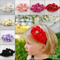 Baby girl headdress Bud pearl headband flower hair hoop paddy Children Hair Accessories headbands 8 colors free shipping Y800