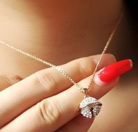 Free shipping 2013 new fashion Accessories ball crystal necklace short design women's necklace popular chain a04340
