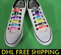 1000pcs/lot~2013 Latest Design Silicone Shoelaces for Sports Shoes~8 colors~No Tie Fashionable Silicone Lace~DHL FRFEE SHIPPING